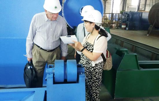 Netherlands customer visited Beston pyrolysis machine under the guidance of B