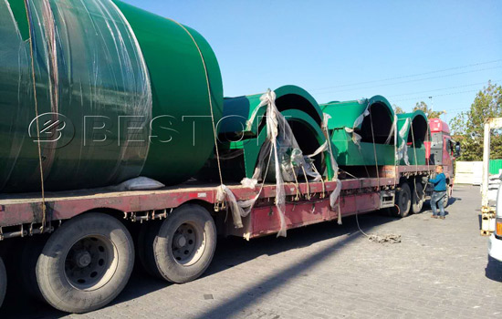 Shipment of BLL-10 Beston pyrolysis machine to Canada