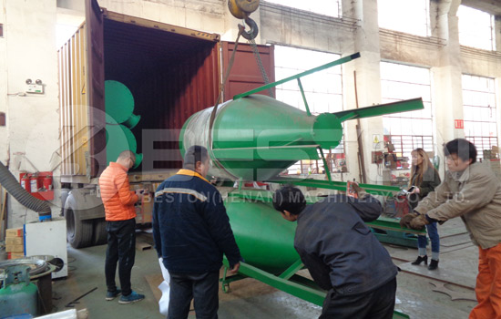Shipment of Beston Charcoal Production Equipment to Spanish