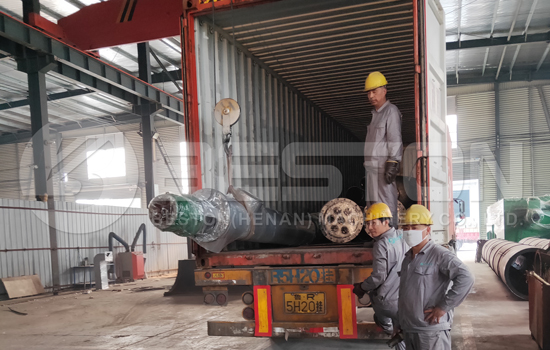 Pyrolysis Plant Shipped to Romania