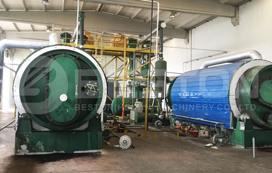 Waste Pyrolysis Machine Installed in Turkey