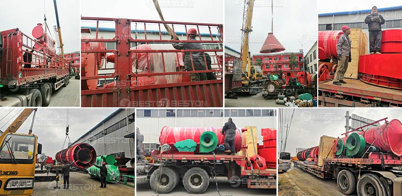 BST-30 Sawdust Charcoal Making Machine Shipped to Russia