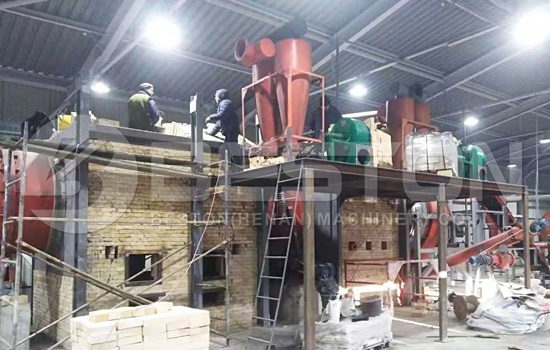 BST-50 Beston Wood Charcoal Machine Installed in Ukraine