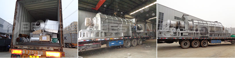 Beston Palm Kernel Shell Charcoal Machine Shipped to Ghana