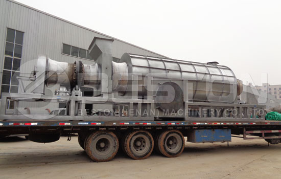 Beston Palm Kernel Shell Charcoal Making Machine Shipped to Ghana