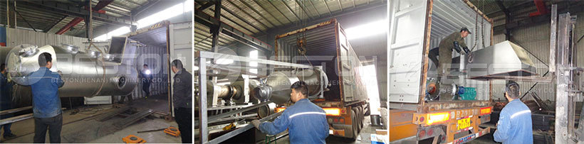 Palm Kernel Shell Charcoal Machine Shipped to Ghana