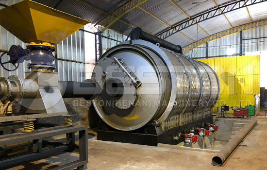 BST-16 Waste Tire Pyrolysis Plant in Paraguay