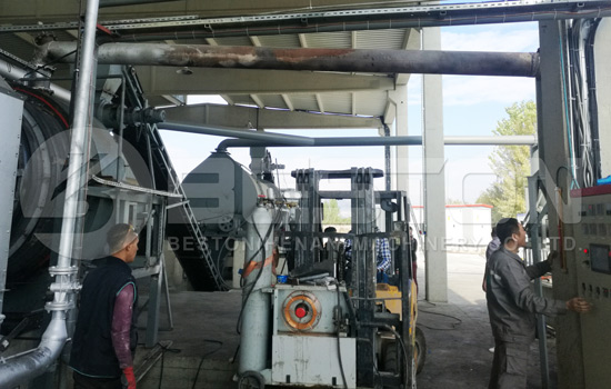 BST-50 Biochar Making Machine Installed in Turkey