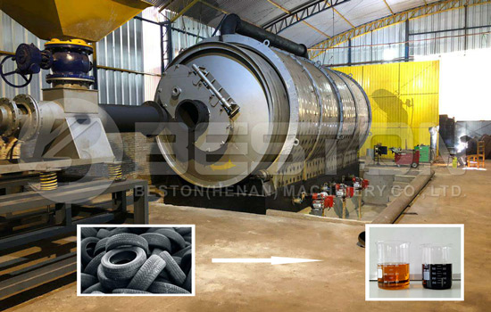 Tyre Pyrolysis Plant Project in Paraguay