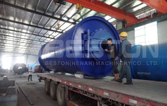 Waste Pyrolysis Plant Shipped to South Korea