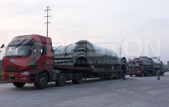 Well-designed Waste Tire Pyrolysis Plant Shipped to Brazil